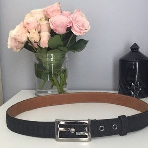 Fendi Black logo belt